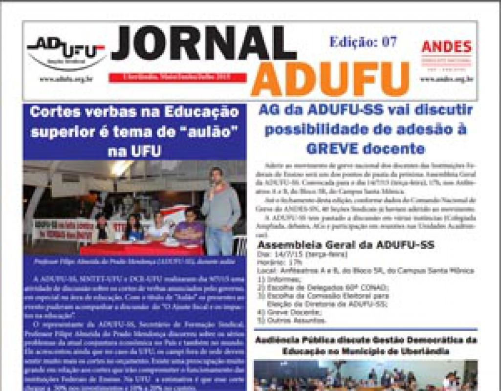 Jornal ADUFU-SS Edição: 07 - Maio/Junho/Julho 2015