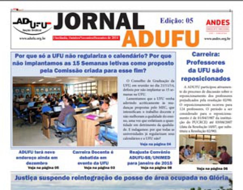 Jornal ADUFU-SS Edição: 05 - Outubro/Novembro/Dezembro