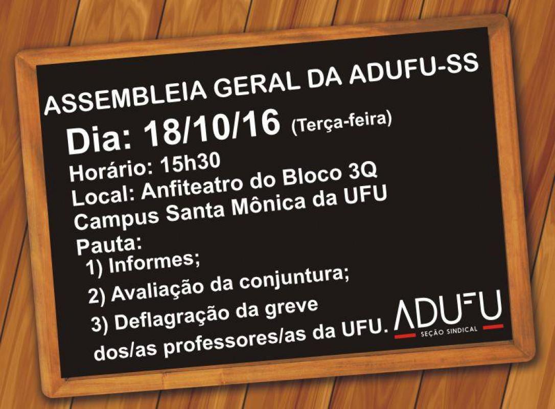 Assembleia irá deliberar sobre greve na UFU