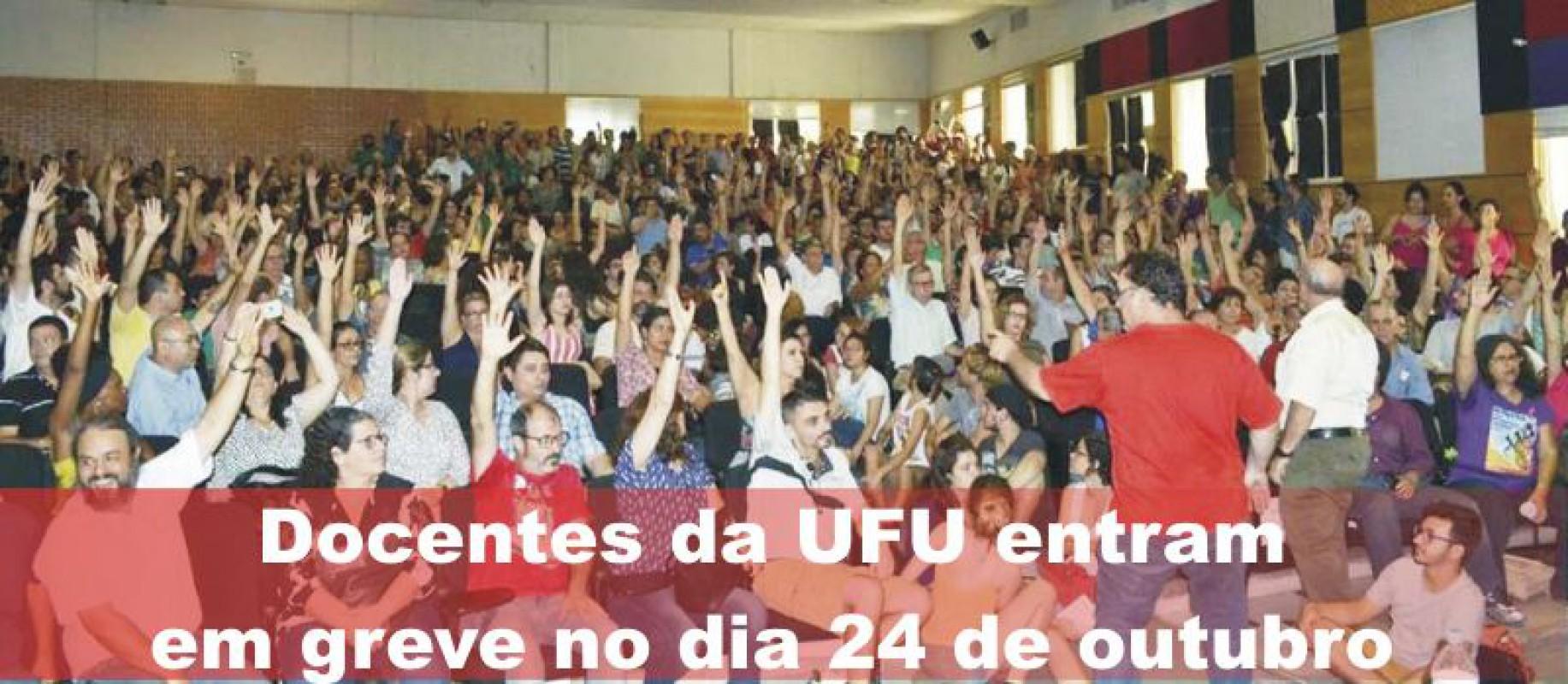 Docentes da UFU entram em greve  no dia 24 de outubro