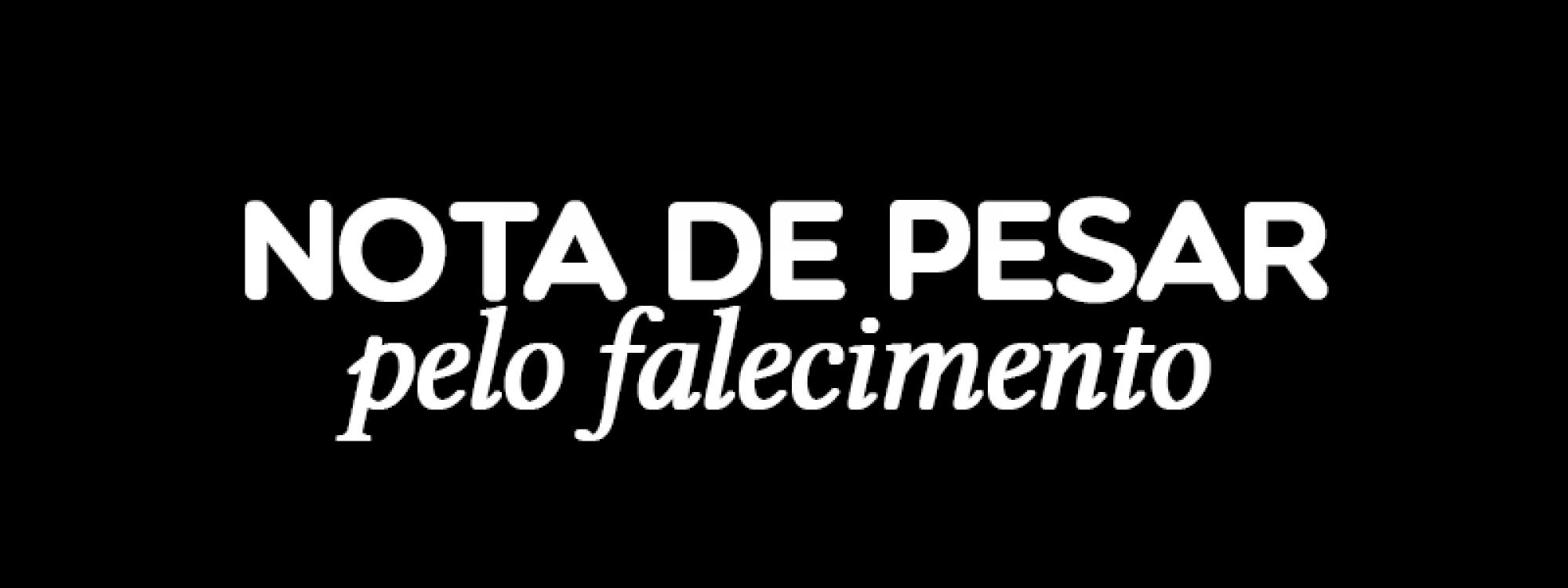 Nota de pesar pelo falecimento do professor José de Paulo Carvalho