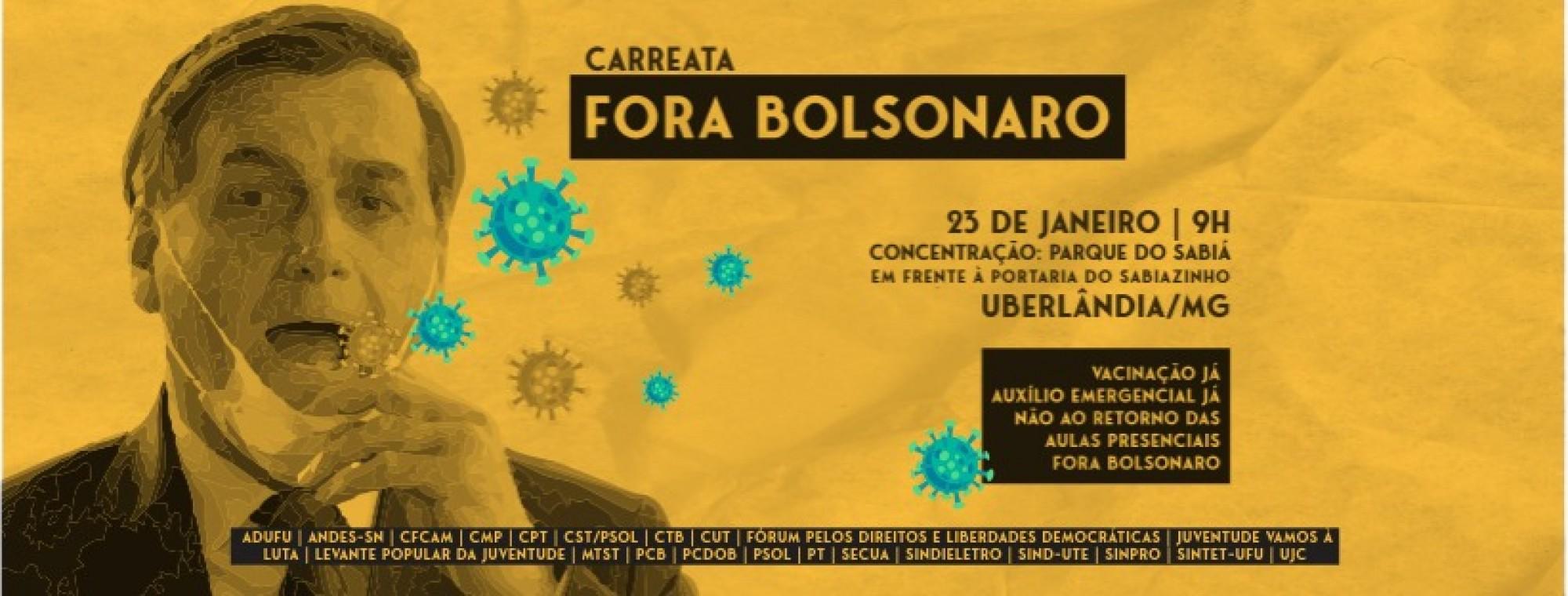 Carreata Fora Bolsonaro em Uberlândia