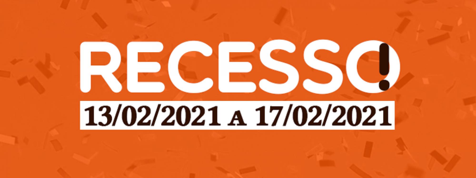 Recesso na ADUFU: 13 a 17 de fevereiro de 2021