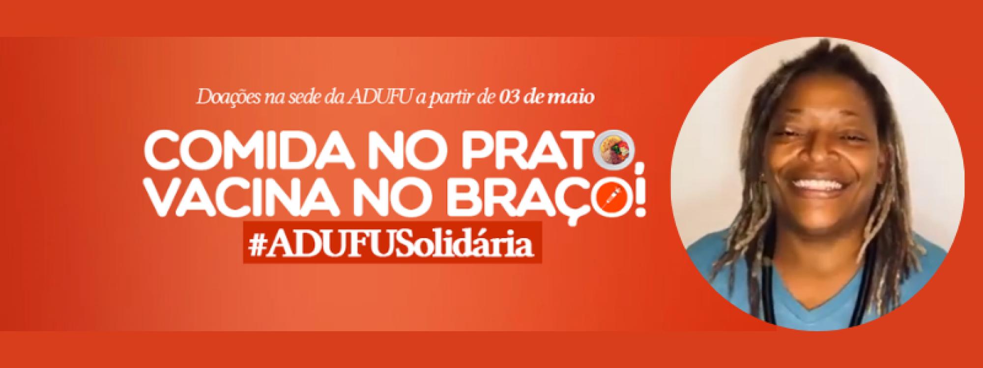 Mart'nália convida para campanha de arrecadação de alimentos não perecíveis da ADUFU