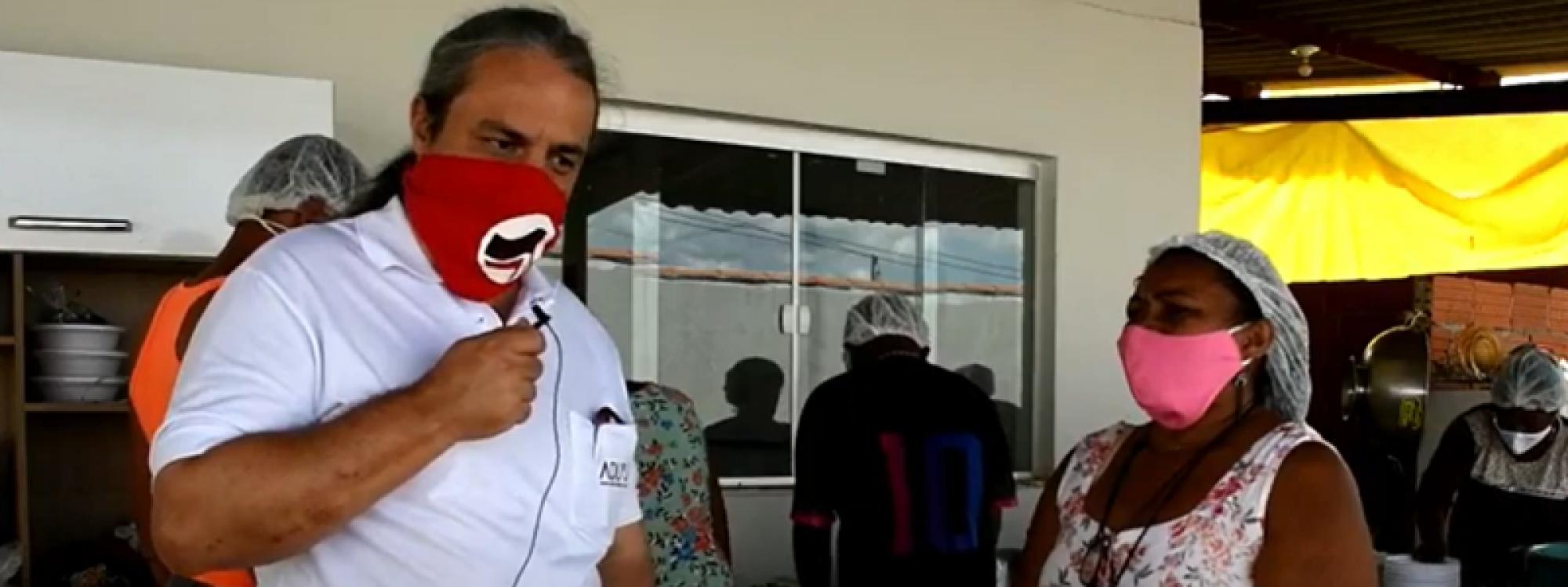 Comida no prato, vacina no braço: conheça a cozinha comunitária do bairro Élisson Prieto