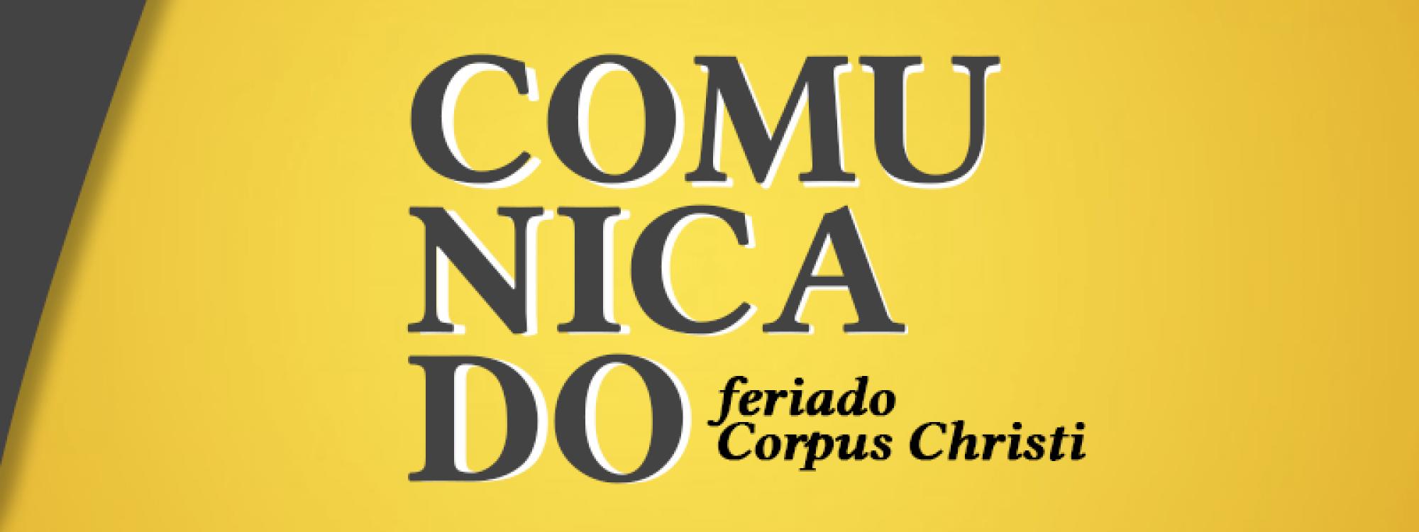 Recesso na ADUFU de 03 a 06 de junho de 2021: feriado de Corpus Christi