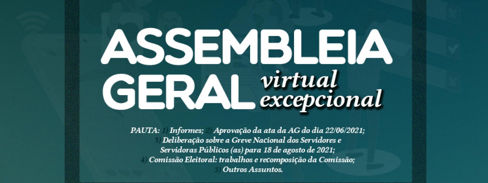 ADUFU convoca filiados/as para Assembleia Geral que ocorre em 12/08/2021